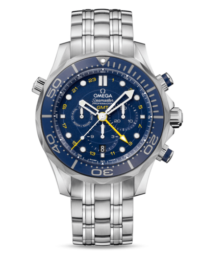 Omega Diver 300M Co‑Axial GMT Chronograph 44 mm
