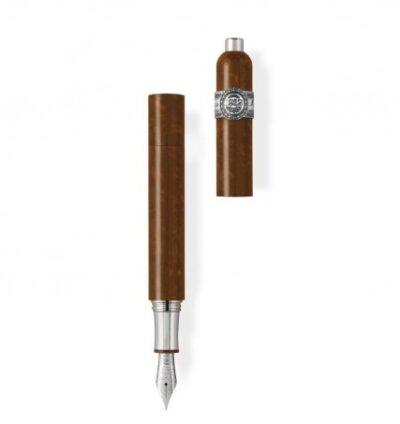 Montegrappa Zigarrenfüllhalter aus Zelluloid und Silber