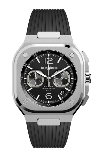 Bell & Ross BR 05 CHRONO BLACK STEEL 42mm