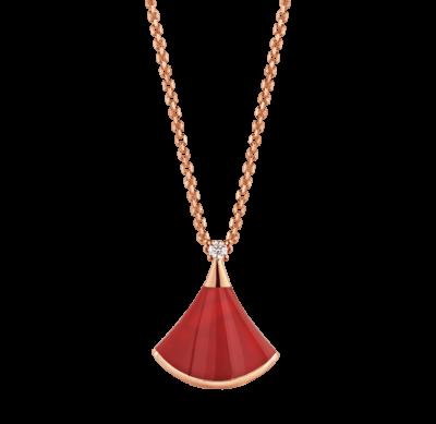 Bulgari DIVAS' DREAM Halskette aus 18 Karat Roségold mit einem Fächeranhänger